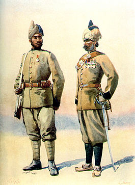 Colour illustration of two muslim soldiers